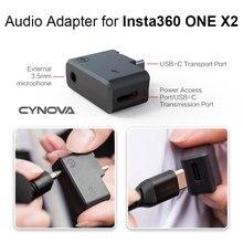 Adapter Audio dla Insta360 ONE X2 Adapter mikrofonu mikrofon złącze kabla ładowania dla Insta360 one x2 panoramiczny aparat akcesoria