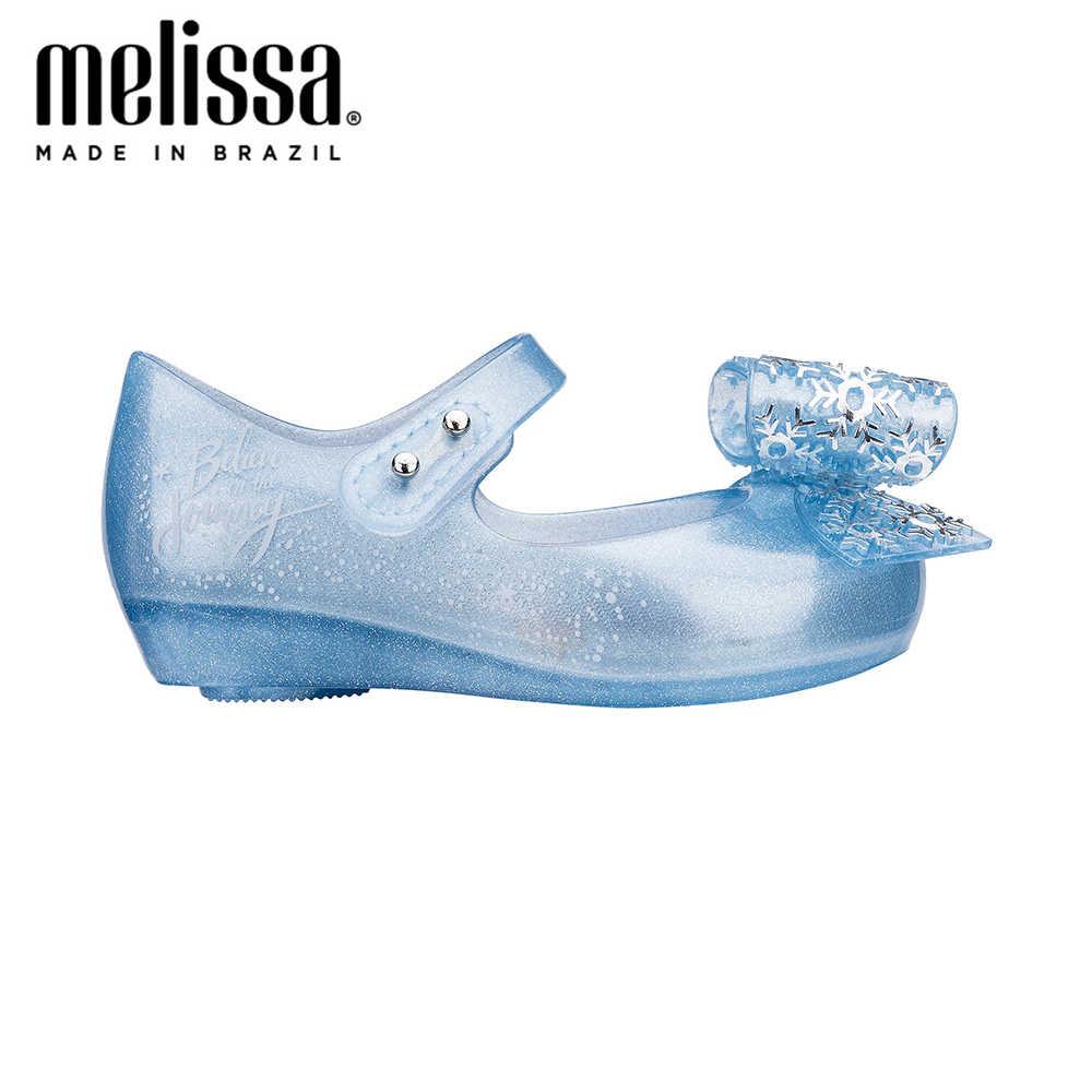 Mini Melissa Ultragirl + Tặng Công Chúa Tuyết Bé Gái Jelly Giày Xăng Đan 2020 Mới Giày Cho Bé Mềm Mại Melissa Dép Xăng Đan Trẻ Em Không chống Trượt
