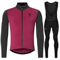 Ropa hombre invierno, 2019, зимний теплый флисовый комплект с длинным рукавом, одежда для велоспорта, зимний велотренажер pro team, комплект для велоспорта