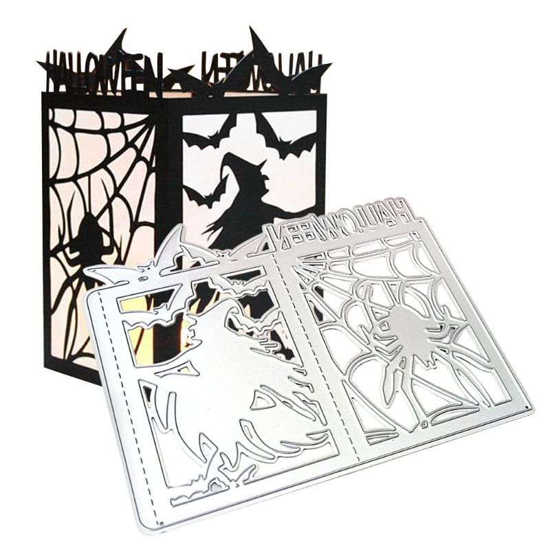 <font><b>Halloween</b></font> Metal Cutting <font><b>Dies</b></font> Scrapbooking Witch lantern Craft <font><b>Dies</b></font> cut Stencils for DIY Paper Card making <font><b>stamp</b></font> <font><b>and</b></font> <font><b>dies</b></font> image