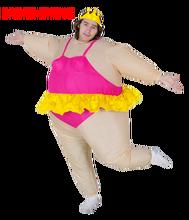 Disfraz de Halloween para mujer, bailarina inflable, vestido elegante, disfraz inflable de fiesta de baile, traje gordo de despedida de soltera