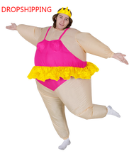 Halloween costume for Women Inflatable Ballerina Fancy Dress Inflatable Party Dancing Costume Fat Suit Stag Hen Night Outfit
