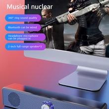2021 New USB Bluetooth Speaker 350TS Wired Speaker Wireless Home Strip Speaker Bass Stereo Subwoofer Speaker Portable Audio