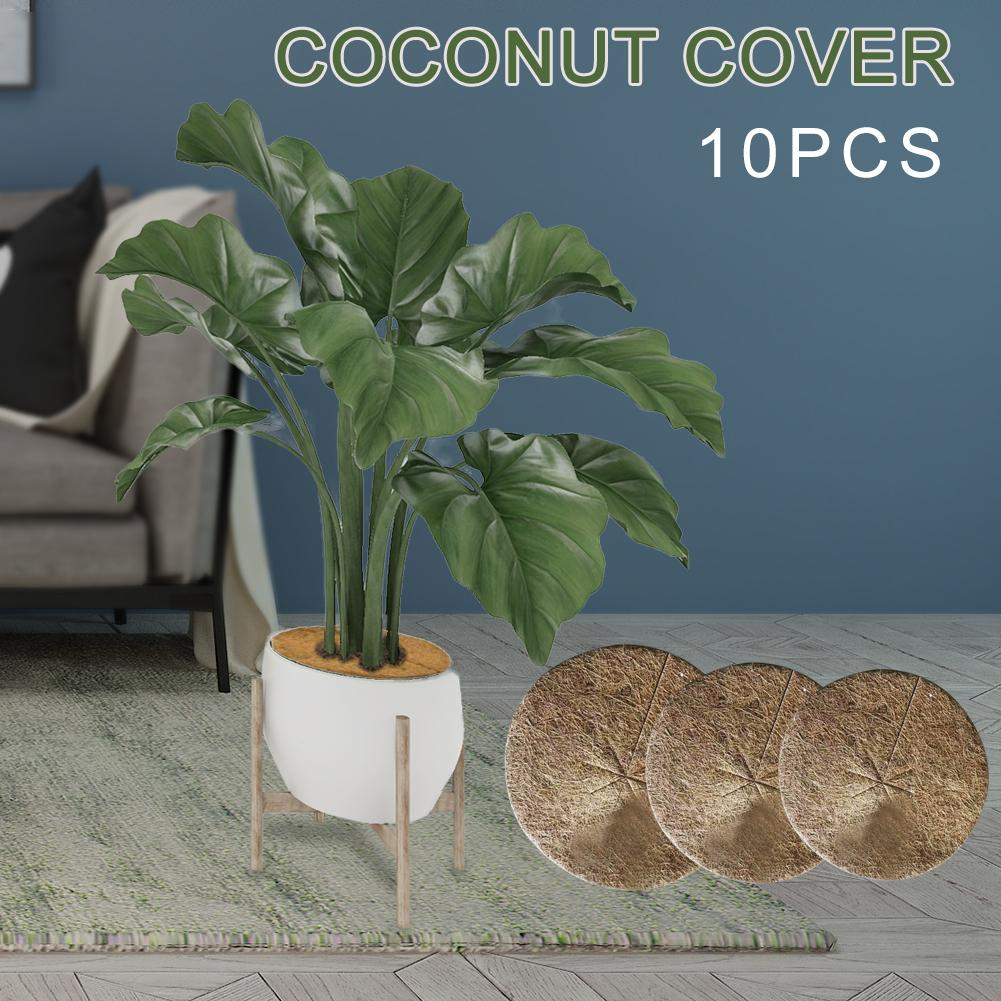 10PCS Plants Cover Potted Plants Winter Protection Coconut Mulch Cover Mulch Disc Plant Cover Coir Mat For Gardening