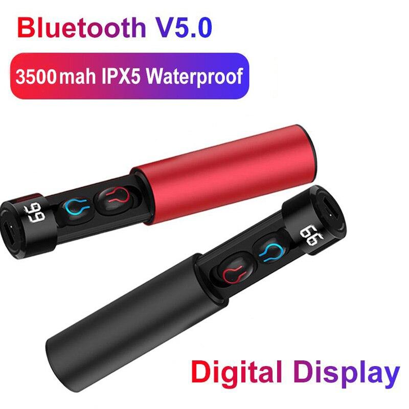 Bluetooth 5.0 Earphones TWS Wireless Headphones HBQ Handsfree Sports Earbuds Case Gaming Headset Power Bank For Phone PK Q67 Q32