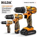 HILDA Akku-bohrschrauber Elektrische Drill Drahtlose Bohrer Elektrische Schraubendreher Akkuschrauber DC Lithium-Batterie Power Tools