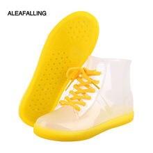 Сапоги aleafalling женские резиновые Британская мода на шнуровке