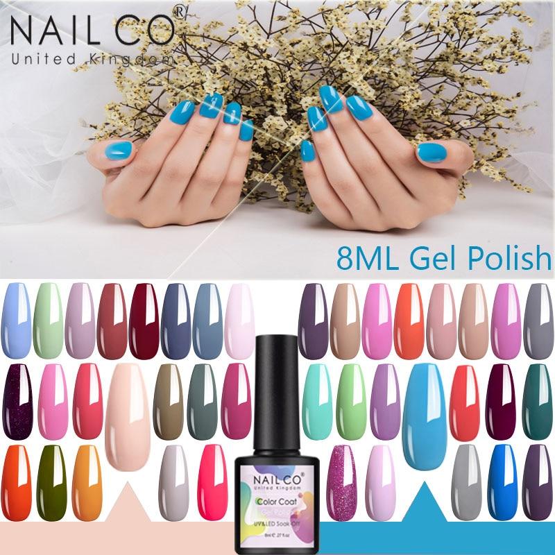 NAILCO 8ml New Produc Soak Off Polish Hybrid Nail Art Design Series Semi-permanent UV Led Varnish Nail Gel Polish Lacquer