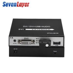 Image 3 - DVI to fiber optic converter 1080P DVI Fiber Optic Video Extender KVM(DVI+USB)To Fiber Mouse and keyboard compressed