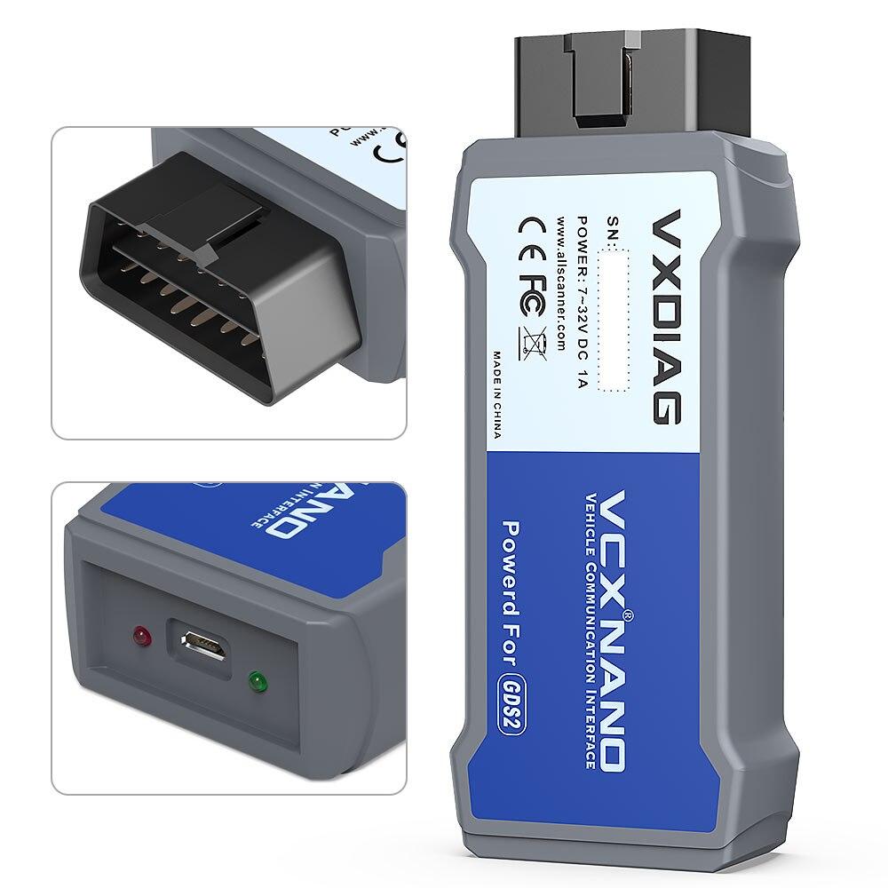 VXDIAG VCX NANO dla GM/OPEL GDS2 narzędzie diagnostyczne dla GM GDS2 skaner GDS2: V2019.04 Tech2win: V16.02.24
