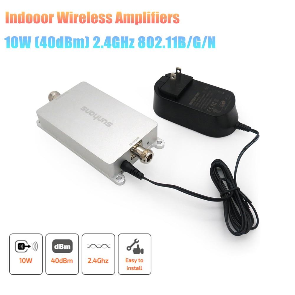 Original 2pcs/ Lot Sunhans 2.4GHz 10W 40dBm High Power Wireless Amplifier IEEE 802.11b/g/n WIFI Signal Booster
