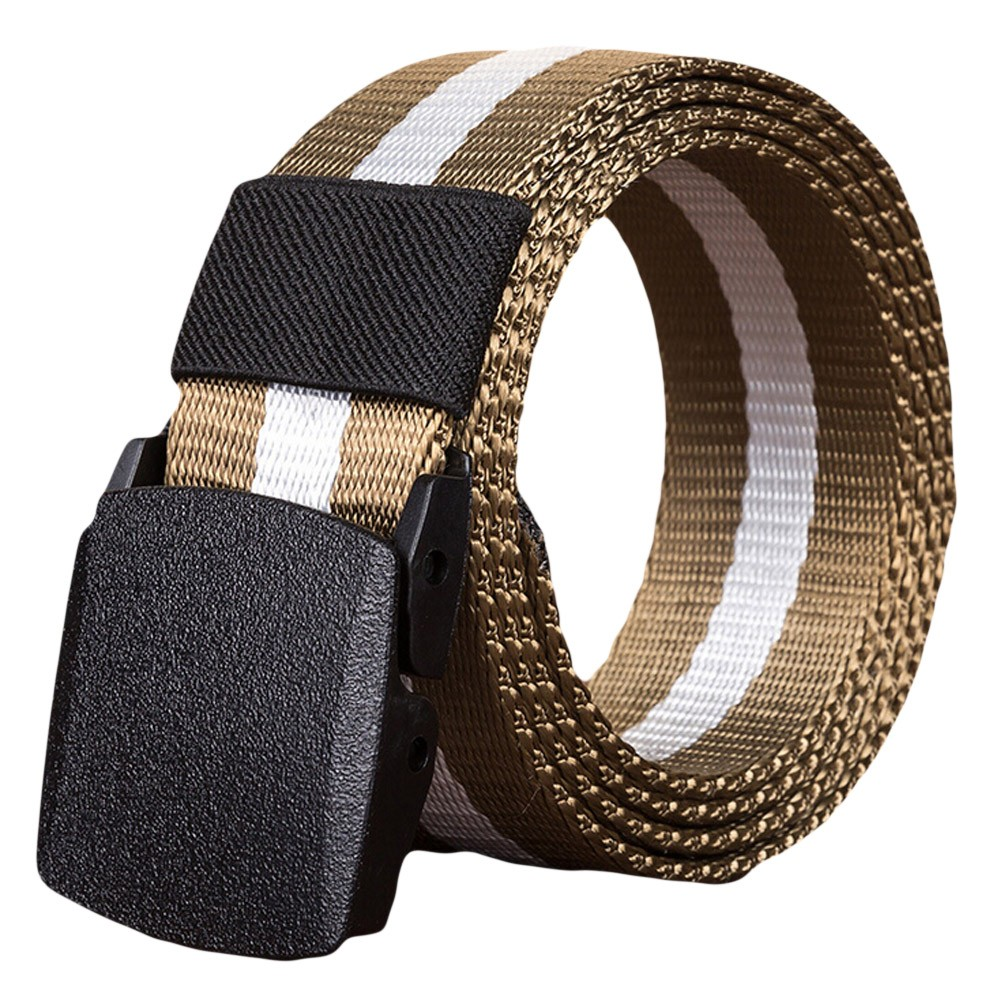 Canvas Belt For Men Women Waist Belt 2020 Fashion Plastic Buckle Casual Cowboy Black Belt Ceinture For Jean Useful Accessories