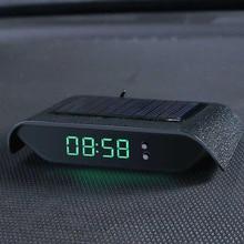 自動車デジタル時計バックライトと太陽の光ディスプレイ高耐熱耐久性のある 24 時間ソーラー電子時計