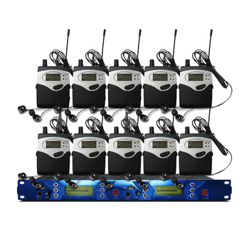 In Ear Monitor System 2 Channel 10 Bodypack Transmitter Monitor with Monitor Wireless for Stage Studio Equipment