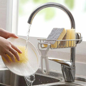 Shelf Sink Rack Soap-Organizer Sponge-Holder Drainer Shower-Tray Storage Stainless-Steel