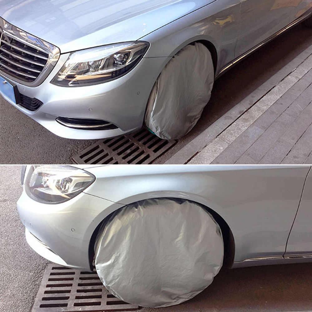 """Gümüş renk naylon kumaş lastik kapak uyar RV için oto kamyon araba kamp römorku 30 """"çaplı tekerlek 1 adet"""