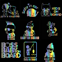 HungMieh Car Stickers Kids Baby On Board Decals 3D Vinyl Sticker for Car Motorcycles Vinyl Creative Decal Car Styling