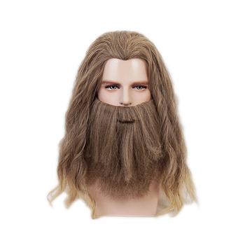 Avengers 4 Endgame Loki Thor Cosplay Wigs Fat Thor Pajamas Halloween Carnival Costumes Role Play Beard Wig tanie i dobre opinie Ktip up Anime Akcesoria Heat-resistant fiber Kostiumy
