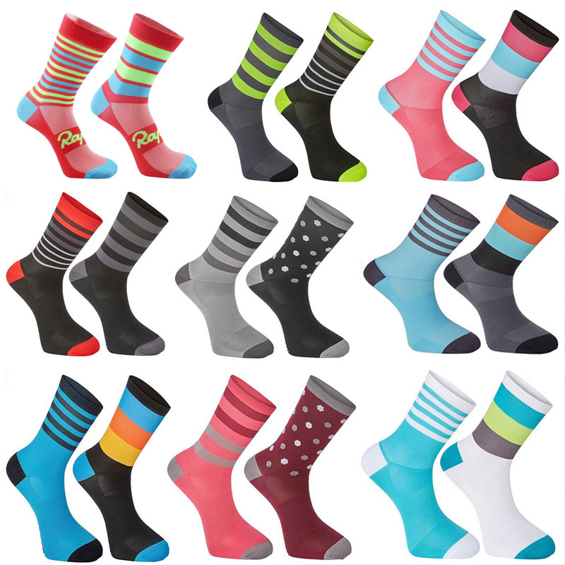 2019 New Cycling Socks Top Quality Professional Brand Sport Socks Breathable Bicycle Sock Outdoor Racing Big Size 6 colors s14