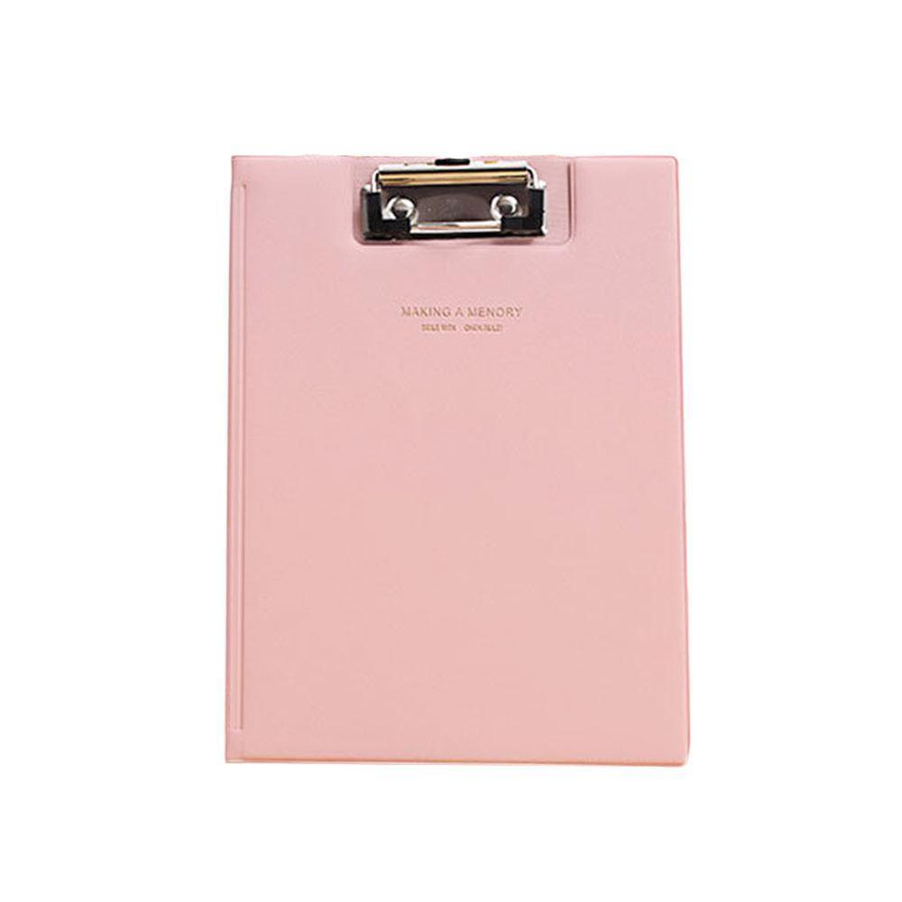 A5 Waterproof Clipboard Writing Pad File Folder Document Holder School Office Stationery Supply 6 Colors