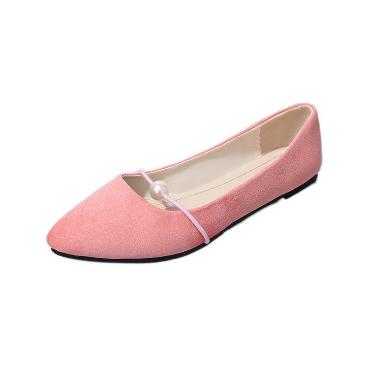 Women Shoes Loafers Pearl Flats Pointed-Toe Casuals 35-41 Summer Low Shallow