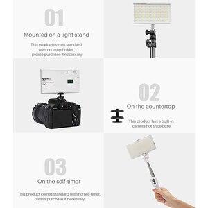 Image 5 - جيب صغير 180 LED الفيديو الضوئي Vlog لايف ستريم التصوير الإضاءة ل DSLR الهاتف الذكي مصباح محمول مع المزدوج الباردة الحذاء
