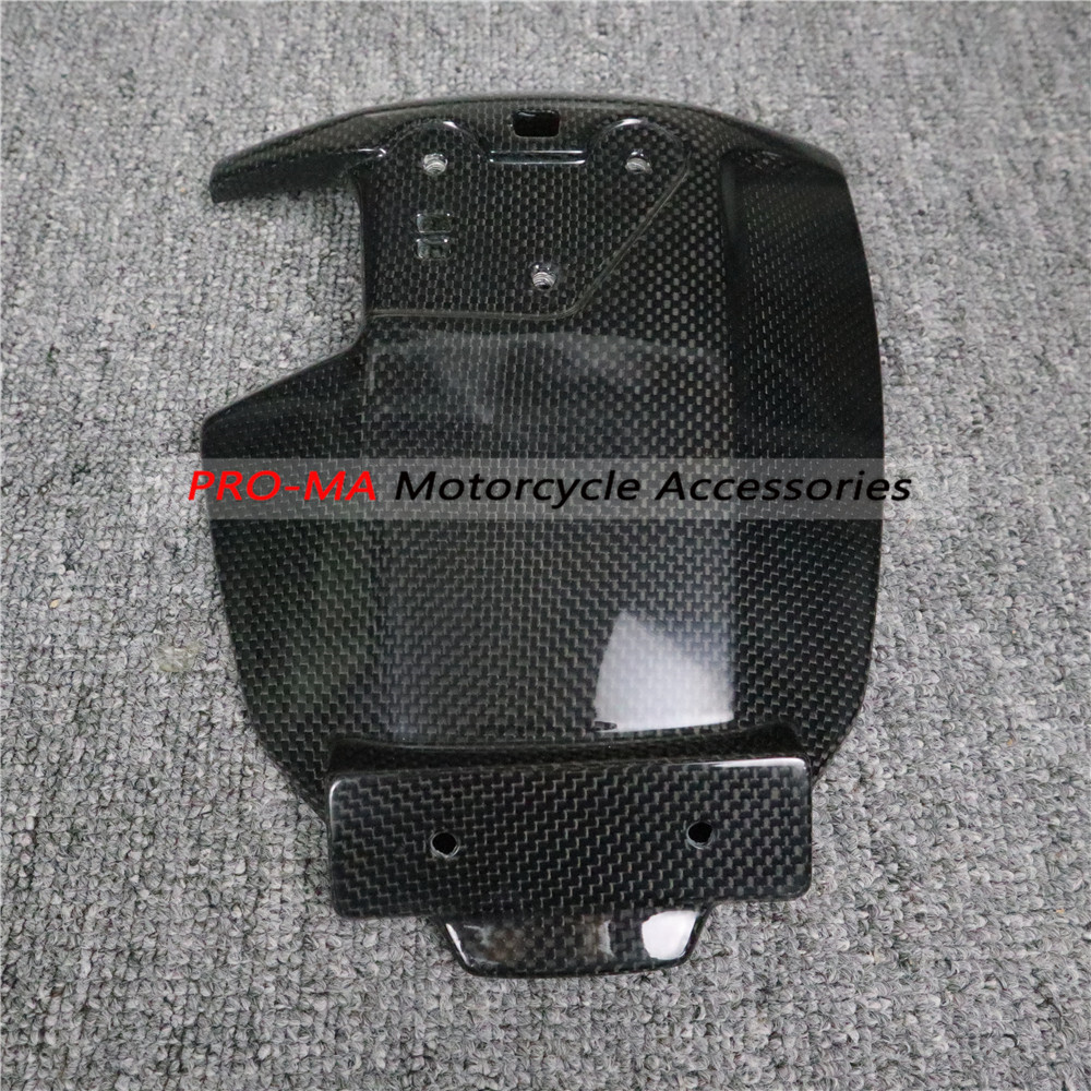 Motorcycle Rear Hugger Mudguard In Carbon Fiber For Ducati Scrambler 800 Plian Glossy Weave