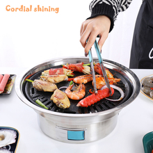 Cordial Shining Home Barbecue Pot Smokeless Charcoal Environmental Protection Safety Indoor Field Barbecue Grill