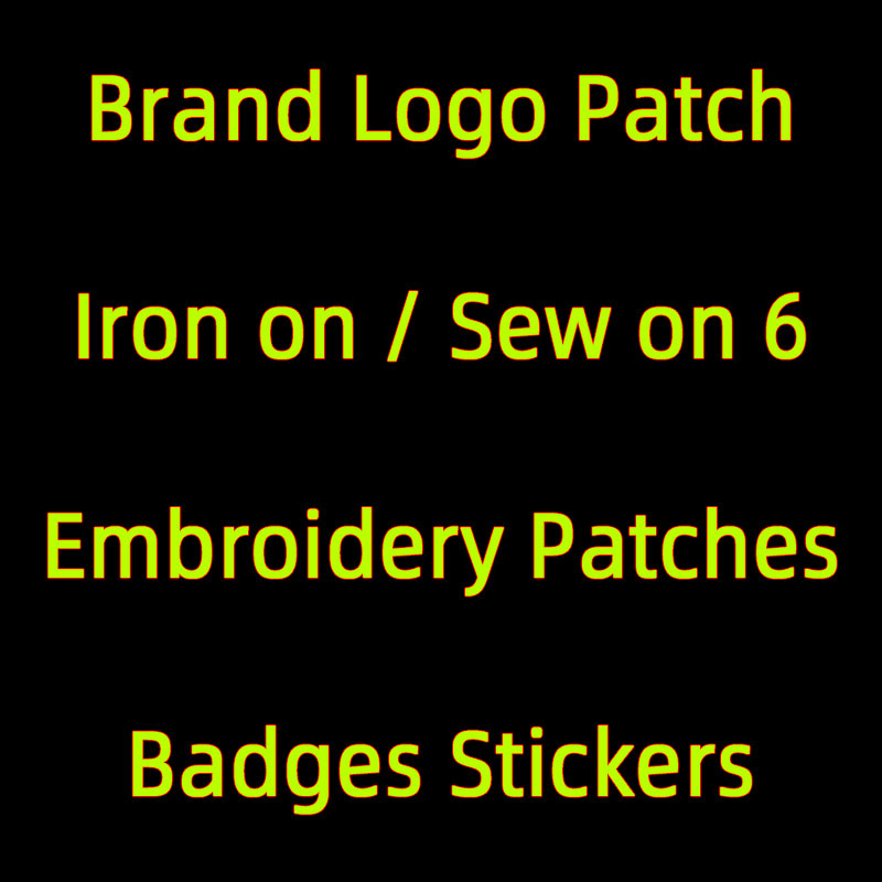 Luxury Brand Logo Small Embroidered Patches for Clothes Appliques DIY Iron on Letters Patch Stripes for Jeans Sticker on Clothes
