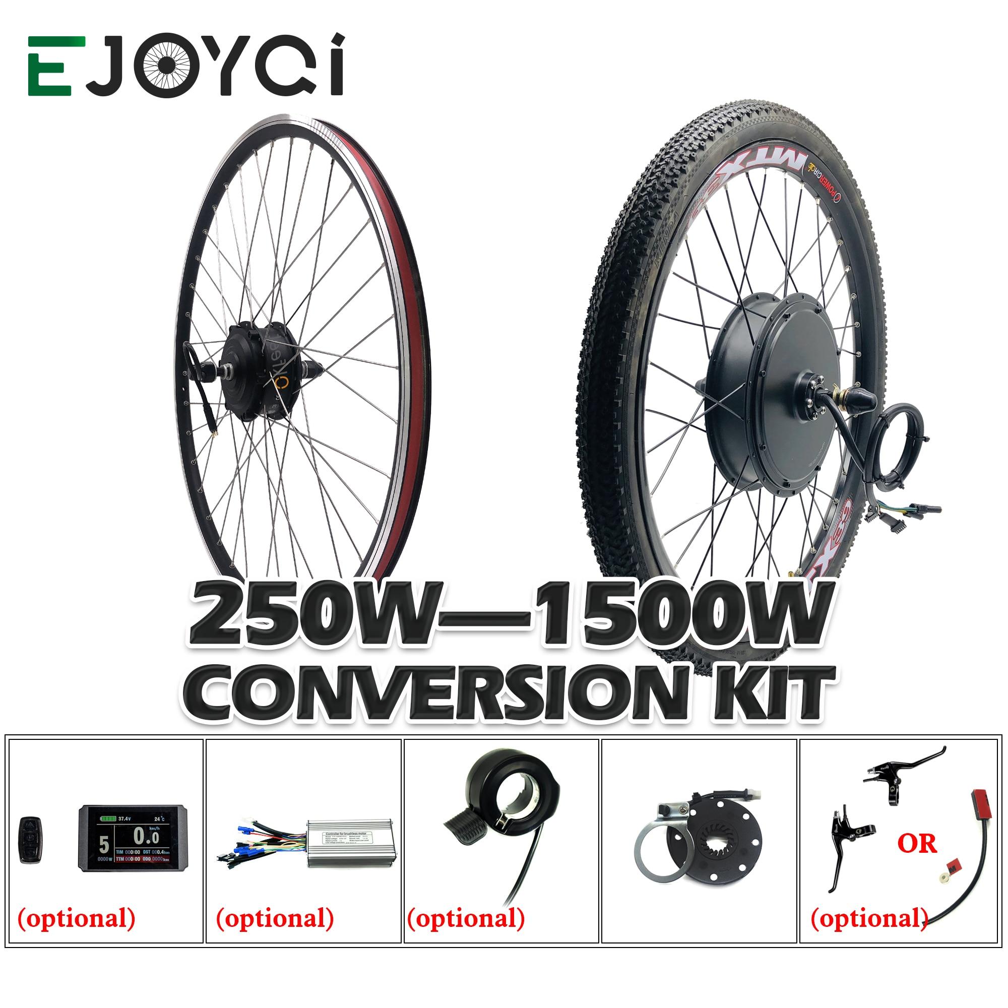 Zestaw do zamiany na rower elektryczny 48V 1000W 1500W światła kt kontroler LED wyświetlacz Hub koło silnikowe elektryczny rower e zestaw do konwersji roweru