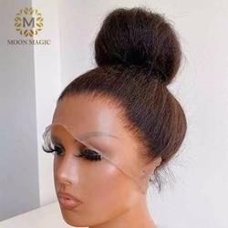 360 Синтетические волосы на кружеве al Парик HD кудрявые прямые 360 парик шнурка предварительно собранные человеческие волосы полный горный вел...