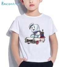 Funny Baby t-Shirt School-Ghostbuster Stay Puft Cartoon Print Boy/girl Children Summer