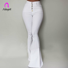 Black Elegant Office Lady High Waist Flare Hem Pants Casual Button Up Solid Minimalist Pants 2019 Spring Women Pants Trousers