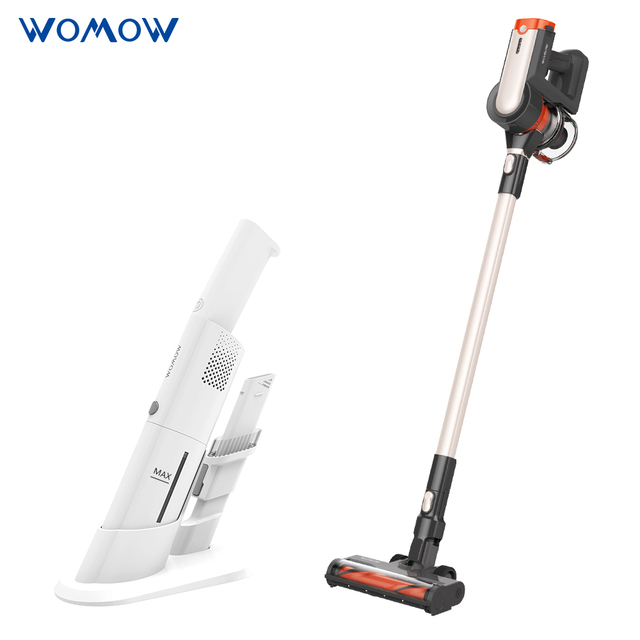 Womow Cordless Vacuum Cleaner 25kpa Power Suction Aspiradora Stick Handheld Wireless Vacuum Cleaner W20 Vs Ilife For Home Car 1