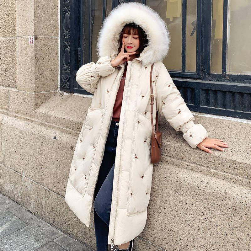 Femmes 2019 hiver Oversize coton rembourré veste femme chaud épais en coton Long manteau ouaté Outwear Parka Chaqueta Mujer K401