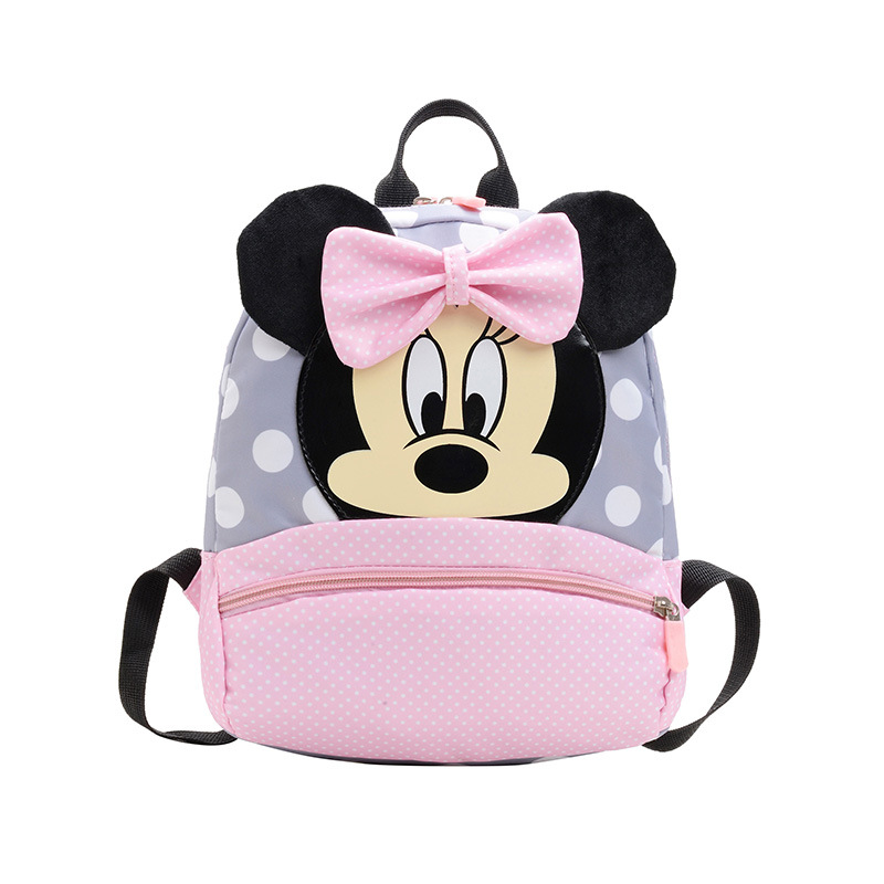 2-7 Yrs Baby Backpack Plush School Bag For Girls Pink Mickey Minnie Backpack Cartoon Children Cute Kindergarten Travel Bag