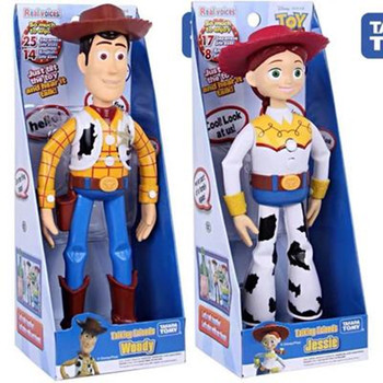 NEW Toy Story 4 Talking Woody Buzz Jessie Action Figures Anime Decoration Collection Figurine toy model for children gift disney 8pcs set coco figures anime figurine toy miguel pvc action figure model mini decoration collectibles toys for children