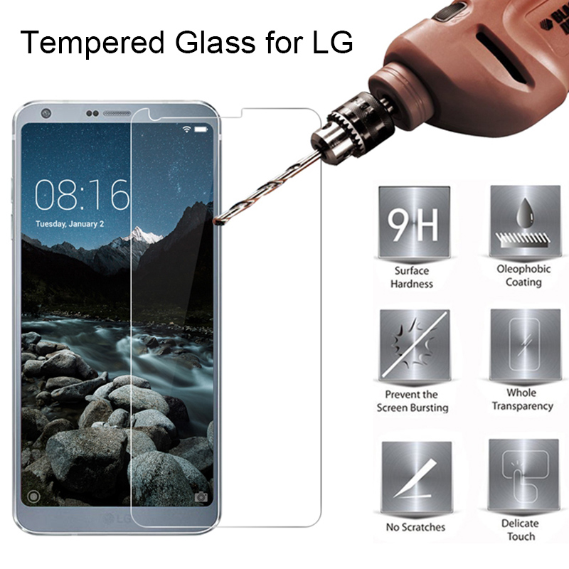 Hard Protector Glass For LG G5 SE G7 ThinQ X Cam 9H Tempered Glass For LG G7 Fit G6 Plus X Style Toughed Glass On LG X5 G7 One