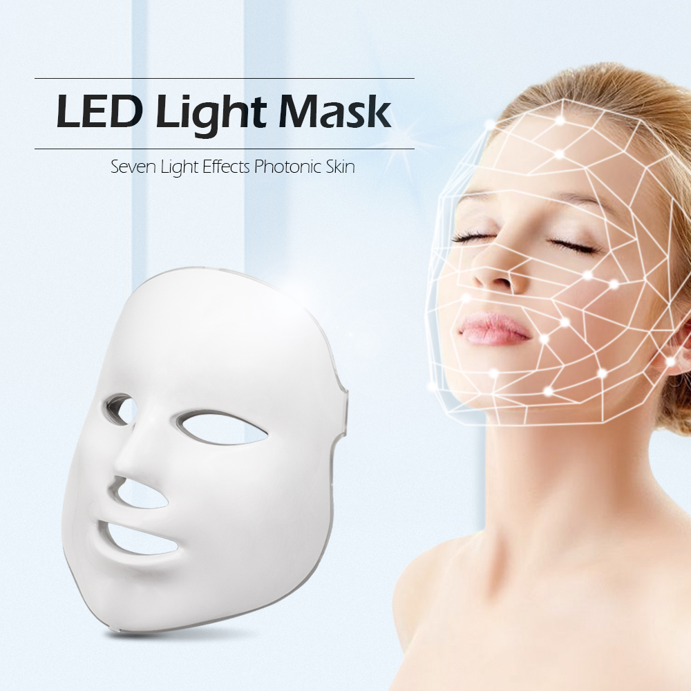 Beauty Photon LED Facial Mask Therapy 7 Colors Light Skin Care Rejuvenation Wrinkle Acne Removal Face Beauty Spa Face Masks