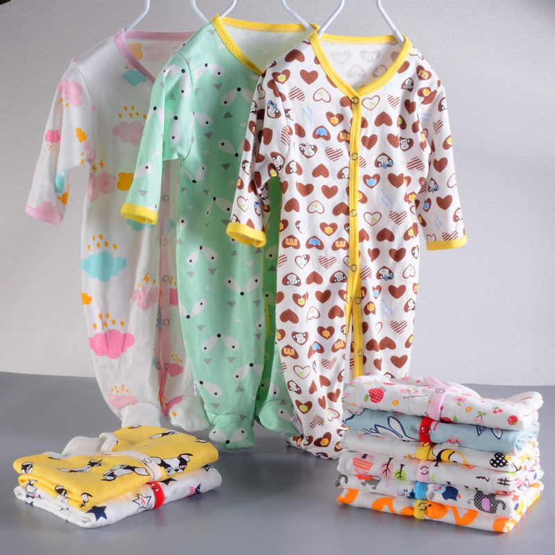 0-12M Toddler Baby girls Clothes cotton Long sleeve newborn baby   Romper   Cartoon print Baby boys Clothing Jumpsuit