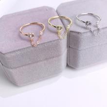 Модные роскошные кольца aaa zicon для женщин Серебряное кольцо