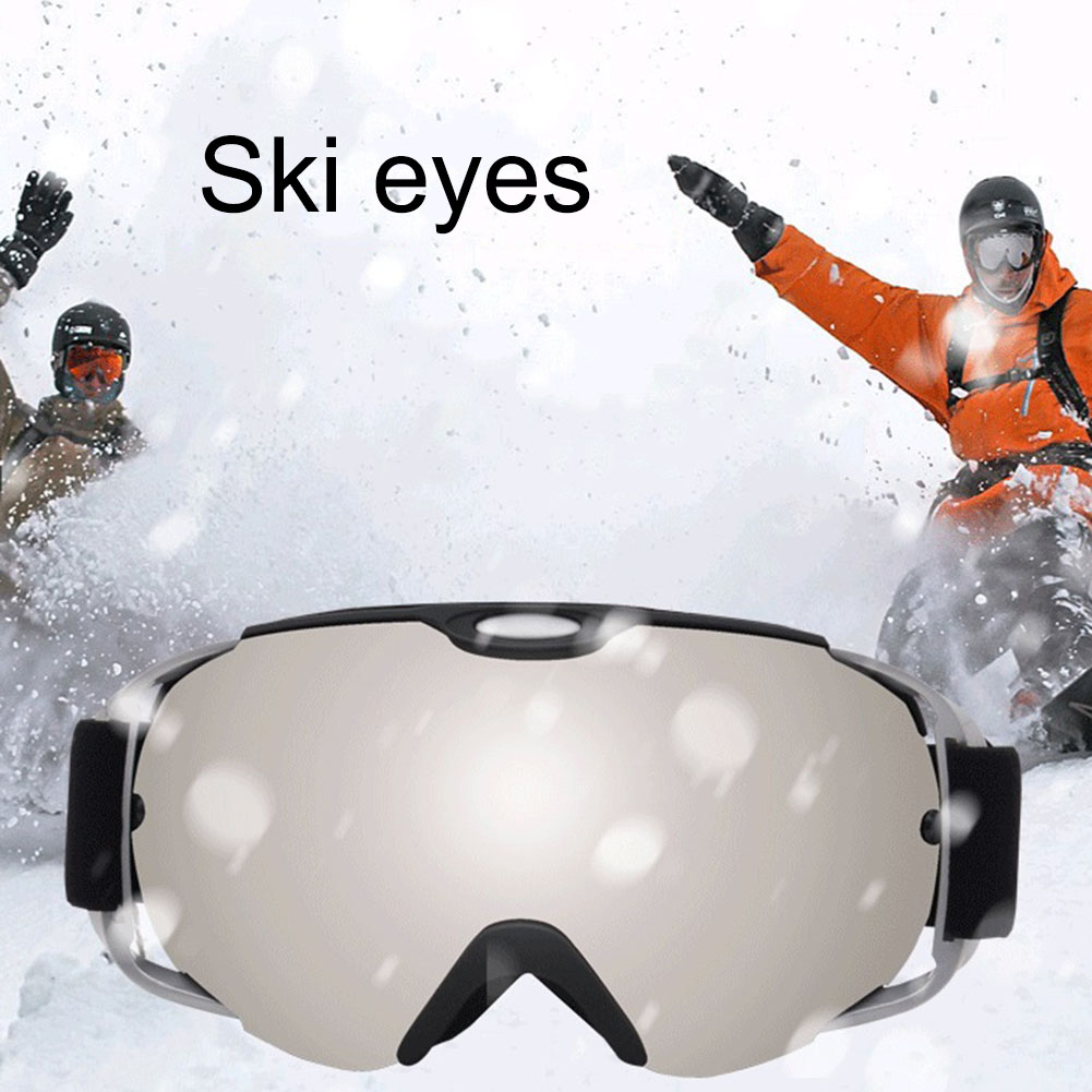 New Ski Snowboard Goggles Windproof Sand Control Anti-Fog UV Protection Spherical Dual Lens Snow Goggles With Adjustable Strap N