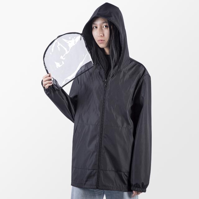 Chaqueta de protección lavable con sombrero y máscara impermeable Anti-coronavirus removible Preventivo epidémico