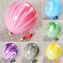 5 / 10PCS 10/12 Inch Agate Colorful Cloud Marble Balloon Featured Paint Party Decoration