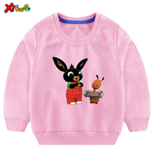 Baby Girls Sweatshirt Cute Cartoon Fall Kids Clothes for Fashion Toddler Casual Active Girl Rabbit