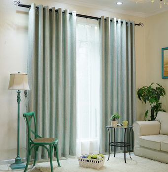 синие шторы для спальни | Жаккардовые затемняющие шторы в синюю полоску для гостиной спальни занавески для окон украшения двери