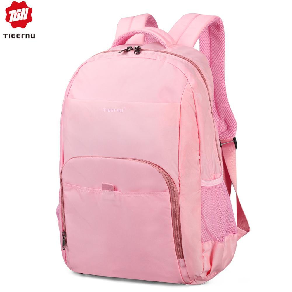 Tigernu Spring School Backpack Bag For Teenager Girl Mini Women College Backpack 14.1 Pink/Blue Mochila Feminina