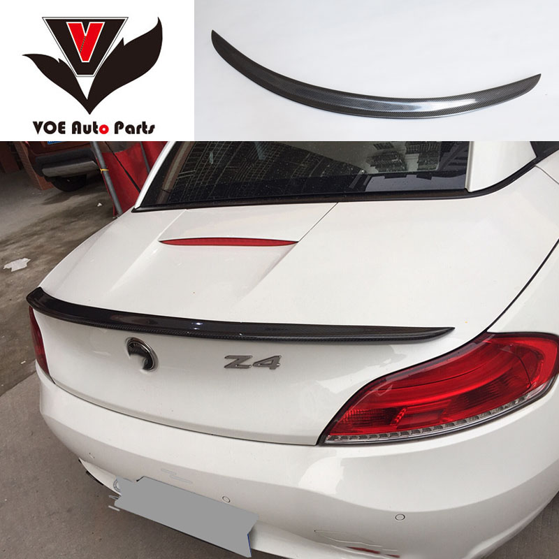 E89 Carbon Fiber P-Style Car-styling Rear Wing Lip Spoiler for BMW Z4 E89 Coupe Convertible 18i 20i 23i 28i 30i 35i 2009-2014