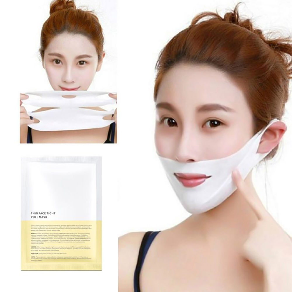 4D Face V Shaped Slimming Mask Facial Slimming Bandage Delicate Double Chin Facial Lifting Friming Hanging Mask Paper V Line