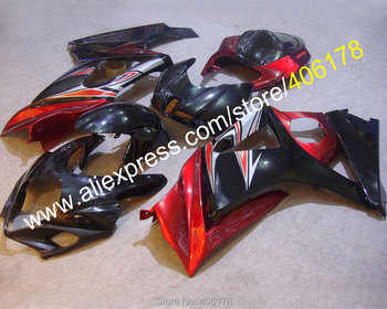 K7 GSX-R1000 07 08 Fairing For GSXR1000 2007 2008 Black Red Street Motorcycle Fairing (Injection molding)